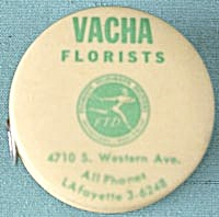 Vintage Vacha Florist Celluloid Tape Measure