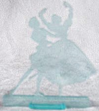 Plastic Ballerinas Figurine Advertising