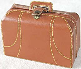 Vintage Minature Faux Leather Suitcase First Aid Kit   (Image1)