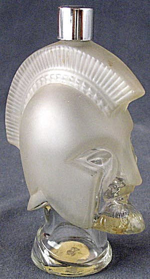 Vintage Avon Glass Trojan Warrior Head Perfume Bottles At Silversnow Antiques And More