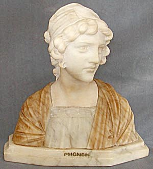 Vintage Marble Bust of Mignon (Image1)
