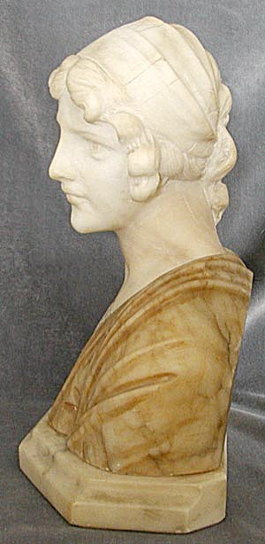Vintage Marble Bust Of Mignon
