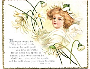 Vintage Bible Cards with Angel (Image1)