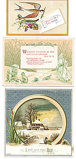 Vintage Bible Cards with Bird (Image1)