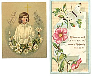 Vintage Bible Cards with Butterfly (Image1)