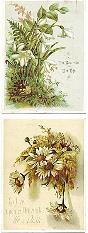 Vintage Floral Bible CardS Set of 2 (Image1)