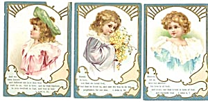 Vintage Bible Cards With Children Set Of 3