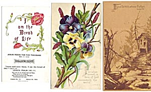 Vintage Bible Cards with Flowers Set of 3 (Image1)