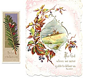 Vintage Bible Cards with Flowers Set of 2 (Image1)