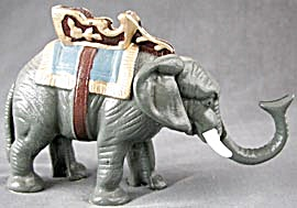 Cast Iron Painted Elephant Bank (Image1)