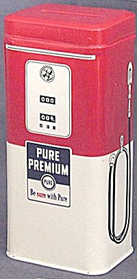 Vintage Metal Pure Premium Gas Pump Bank (Image1)