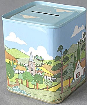 Vintage Country Village Scene Bank (Image1)