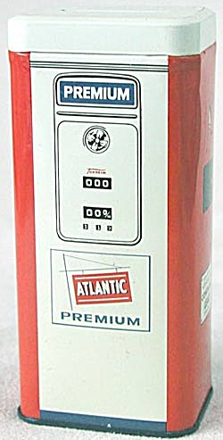 Vintage Metal Atlantic Gas Pump Bank (Image1)