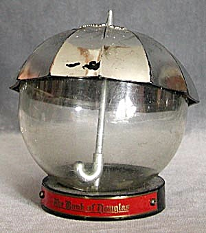 Vintage Advertising Silver Umbrella Bank (Image1)