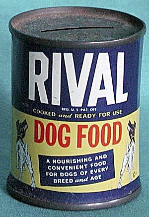 Vintage Rival Dog Food Tin Advertising Bank (Image1)