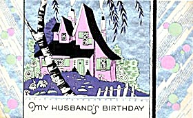 Vintage Birthday Card Cottage (Image1)