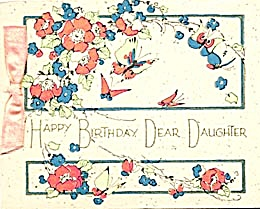 Vintage Birthday Card Butterflies (Image1)