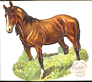 Antique Reproduction Horse Rocker Card