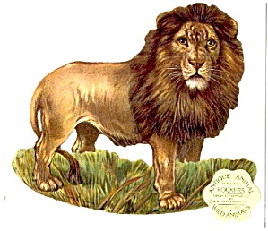 Antique Reproduction Lion Rocker Card