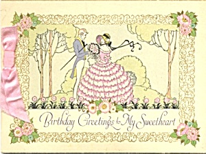 Vintage Birthday Card Couple