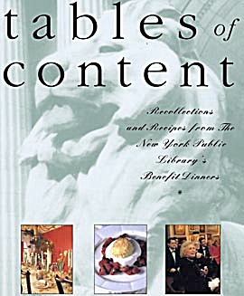 Tables Of Content Recollections And Recipes From The