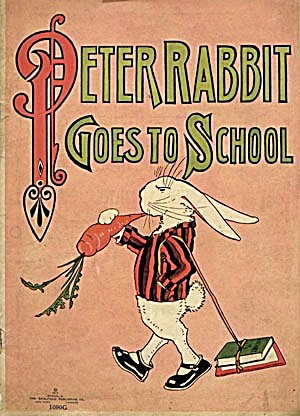 Vintage Peter Rabbit Goes To School