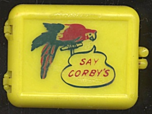 Vintage Corby's Yellow Snap Case