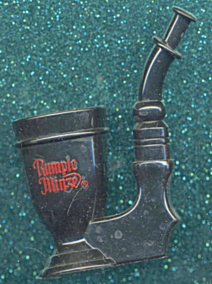 Vintage Rumple Minze Tobacco Pipe Shaped Shot Glass