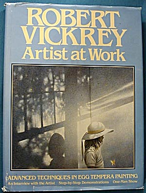 Robert Vickrey Artist At Work Egg Tempera Painting