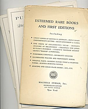 Book Catalogs: Rare Book & Auction Catalogs On Books