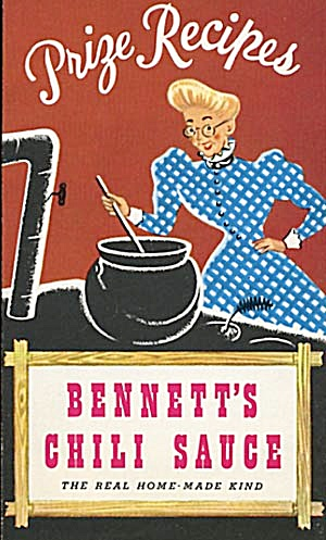 Vintage Prize Recipes Bennett's Chili Sauce