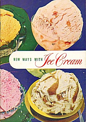 Vintage New Ways With Ice Cream Cook Book (Image1)