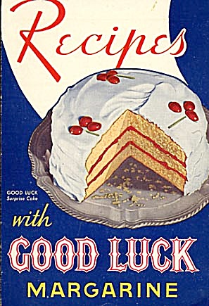 Vintage Recipes with Good Luck Margarine Cook Book (Image1)