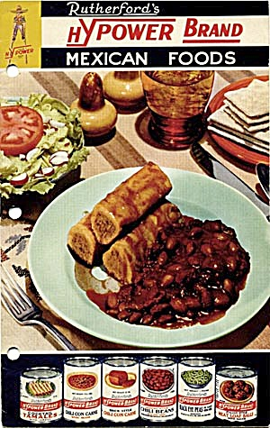Rutherford's Hypower Brand Mexican Foods