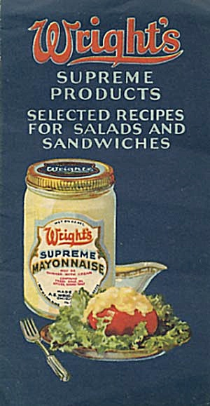 Vintage Wright's Supreme Products Selected Recipes