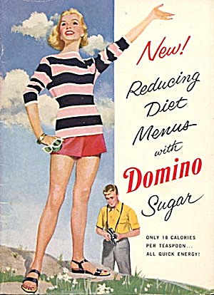 Vintage New Reducing Diet Menus with Domino Sugar (Image1)