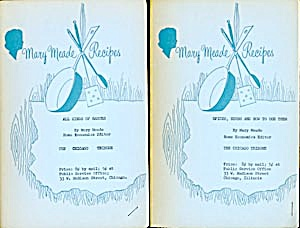 Vintage Mary Meade Recipes All Kinds Of Sauces