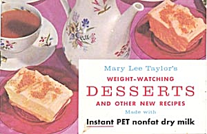 Vintage Mary Lee Taylor's Weight-watching Desserts