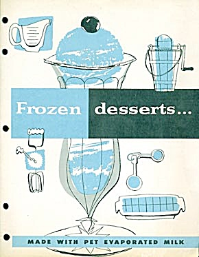 Vintage Frozen Desserts made with Pet Evaporated Milk (Image1)