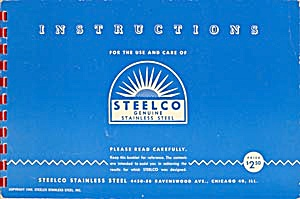 Instructions & Recipes for the use & care of Steelco (Image1)