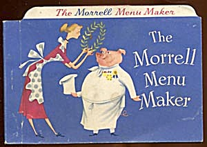 Vintage 1950 Morrell Menu Maker Recipe Book (Image1)
