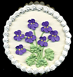 Violet Flower Cake Trinket Gift Box