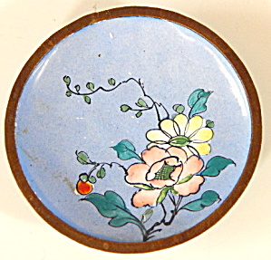 Vintage Enamel Ware Tray With Flower