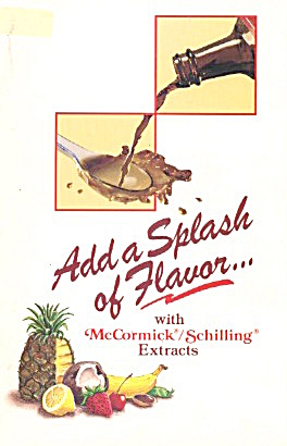Add A Splash Of Flavor With Mccormick/schilling Extract