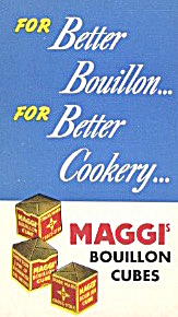 Maggi's Bouillon Cube Recipes