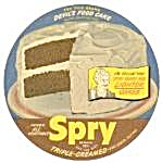 Spry Shortening Key Can Top Recipe Card