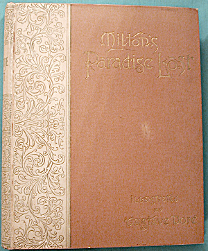 Vintage 1888 Poetry Book: Milton's Paradise Lost