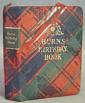 Vintage Thistle Library Burns Birthday Book (Image1)