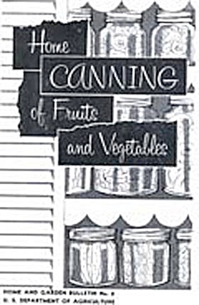 Home Canning Of Fruits & Vegetables