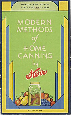 Modern Methods Of Home Canning By Kerr